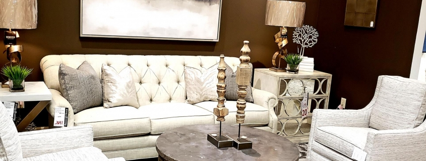 Living Room Furniture - Lexington Tufted Sofa